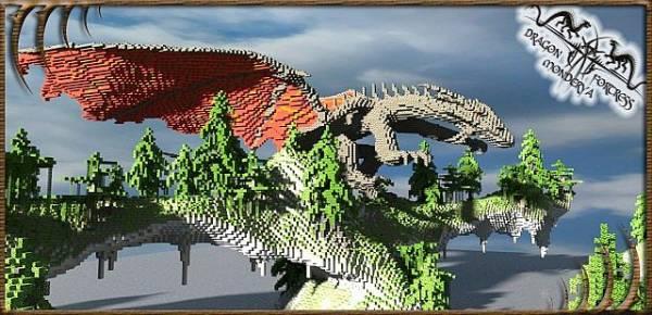 [Map][1.7+] Dragon Fortress Monderya - Очень красивая карта с королевством