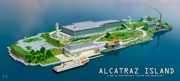 [Map] Alcatraz Island — Тюрьма Алькатрас