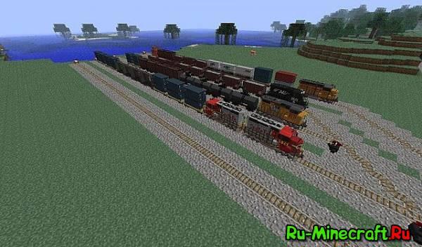 [Map] RAILcRaft - Железная дорога