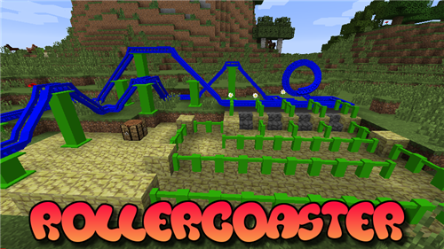 [1.7.2] Rollercoaster - Американские горки в minecraft!