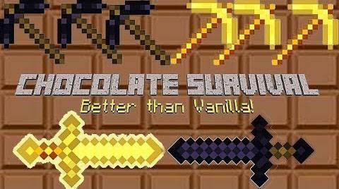 [1.7.2] Chocolate Survival Mod - разнообразь выживание!