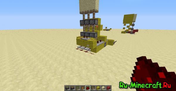 [Guide] Minecraft подъём песка на 3 блока