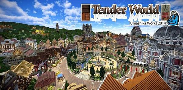 [1.6.4-1.8.8][32x32] Tender World — Ресурс-пак для построек