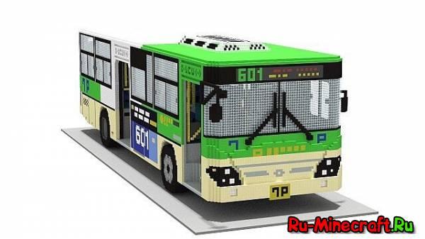 [MAP][1.7.2] City bus Minecraft - Гигантский автобус!