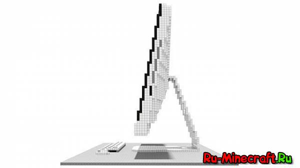 [MAP][1.7.2] The Minecraft iMac - Кубический эппл!