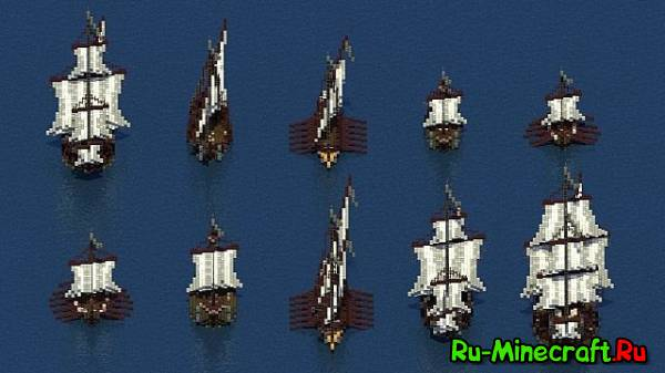 [Map] Minecraft Medieval and Hitech Warship - 2 карты в одной новости!