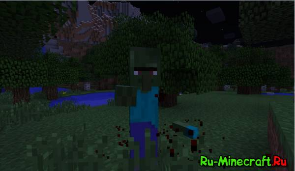 Mob Amputation Mod - отруби руку зомби [1.12.2] [1.10.2] [1.8] [1.7.10]