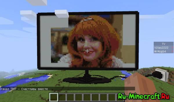 ( Карта 1.8.? ) Телевизор в игре Minecraft.