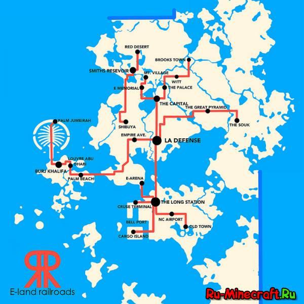 E-Land - все достопримечательности на одной карте! [MAP][1.7+]