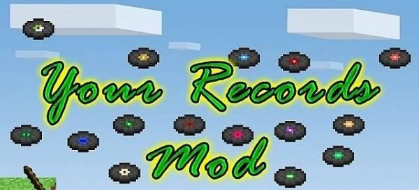 [1.6.4-1.7.10] Your Records Mod - Сделай пластинку сам