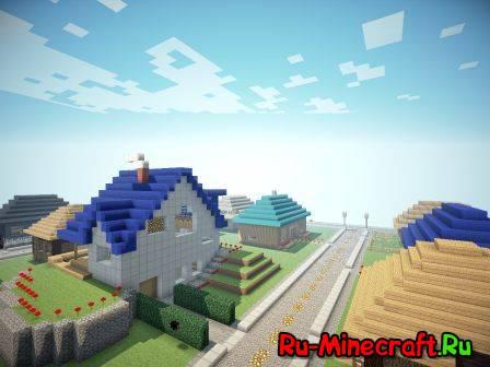 [MAP] Fortress - неплохой городок в майнкрафт