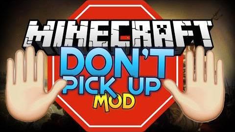 [1.7.10] Don't Pick Up - Чистый инвентарь