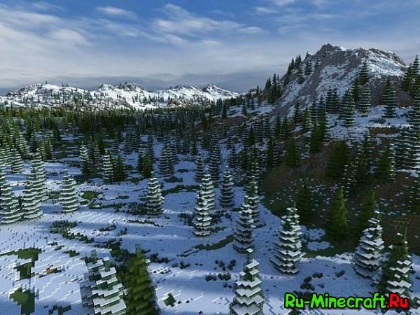 [Карта][1.7+] Winter Lands — Холодные земли!