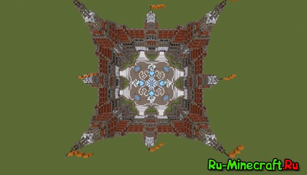 [Карты] 8 portal hub for minecraft - Восьми-портальный спавн