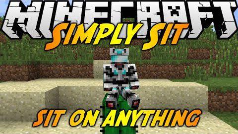 Simply Sit - посиди на любом блоке в майнкрафт [1.7.10]