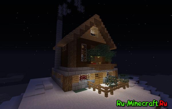 [1.7-1.8] Дом на заснеженной горе - карта с красивым домом
