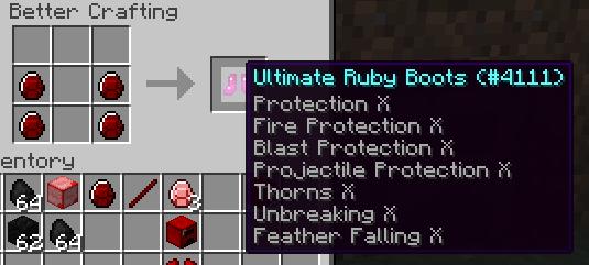 [1.6.4-1.7.10] RubyMod - Рубиновые инструменты