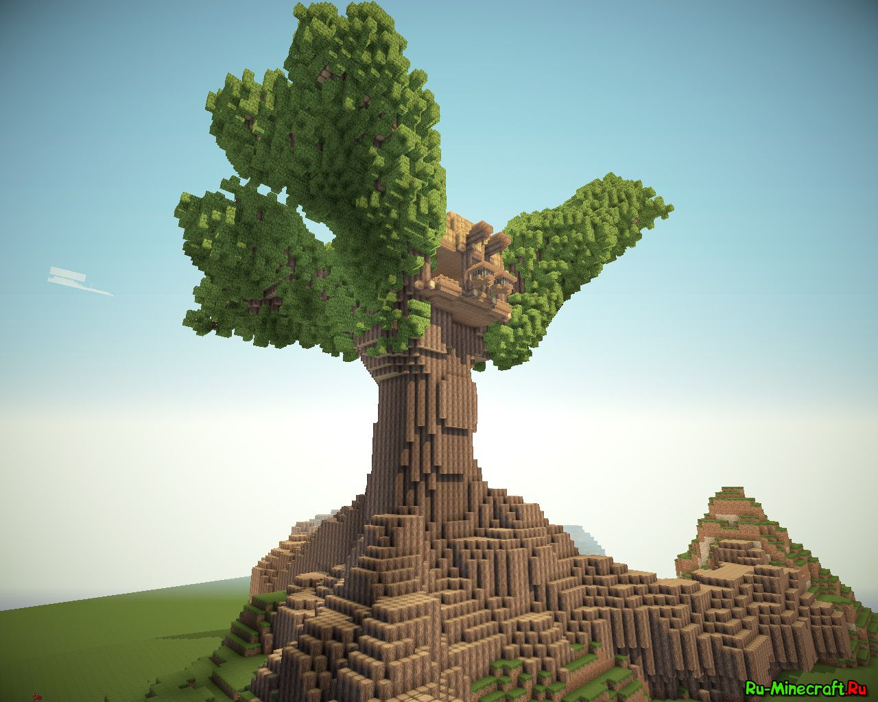 называют домик на дереве в майнкрафт для начинающих трепетно