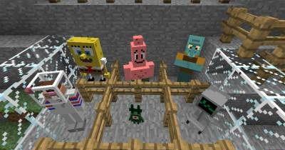 SpongeBob SquarePants спанчбоб в майнкрафт [1.7.10]