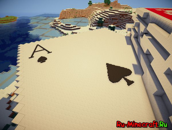 [Map] 3D Арт — Колода Карт в Minecraft