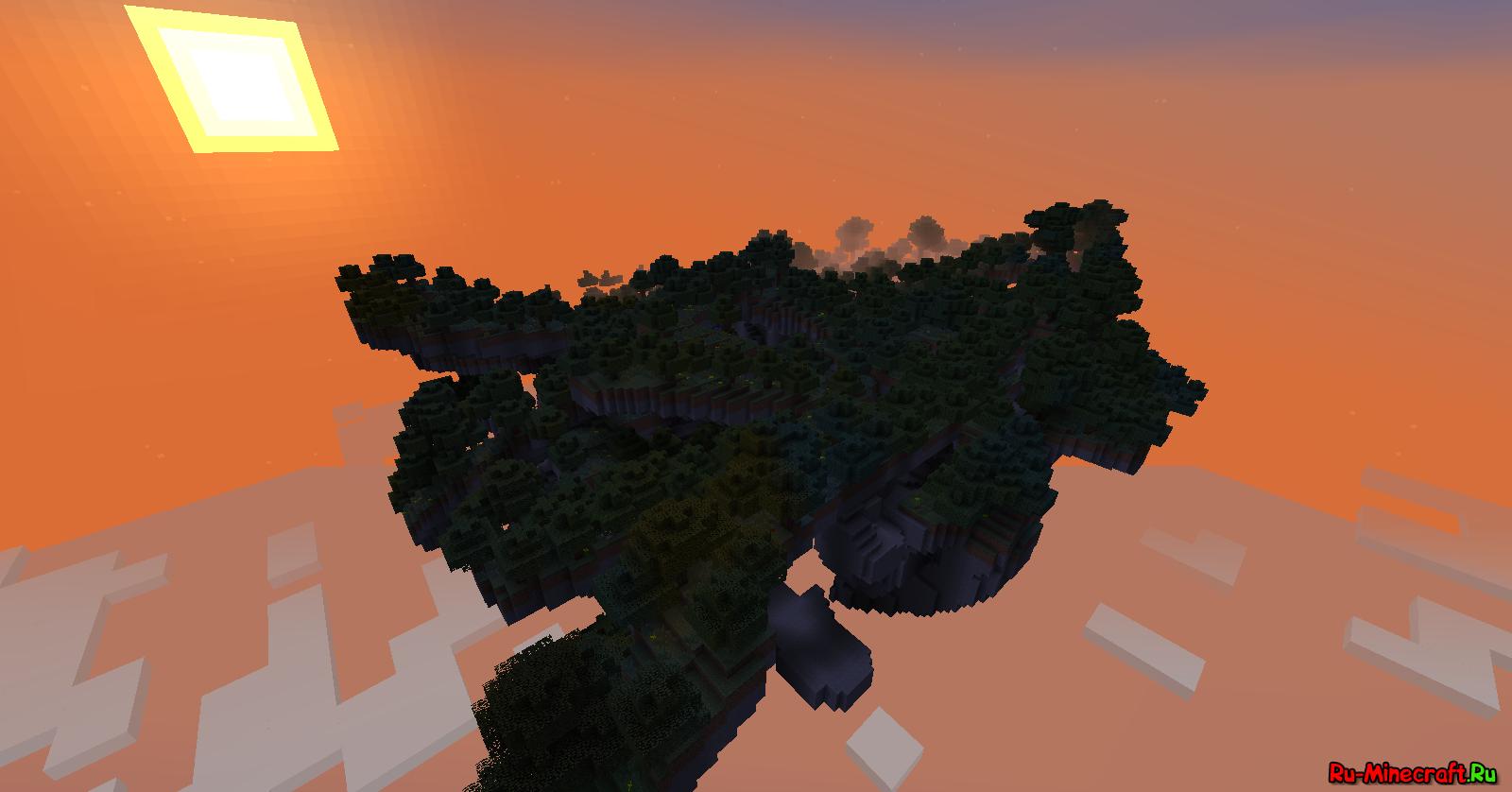карта майнкрафт летающий остров #1