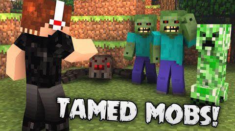 [1.7.10] Tamed mobs - приручение крипера, паука или зомби