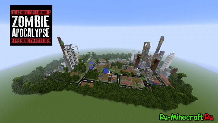 Скачать карту зомби апокалипсис для Minecraft » Всё для ...