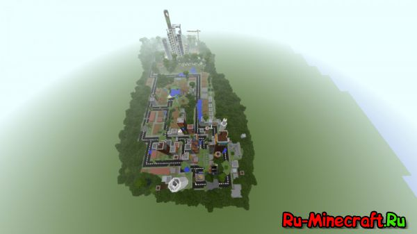 [Map] Zombie city - огромный город
