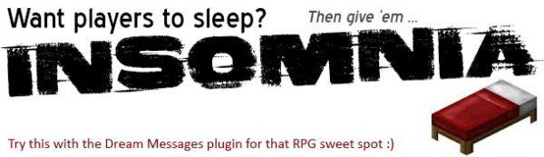 [Plugin][1.8+] Insomnia - заставь спать игроков своего сервера!