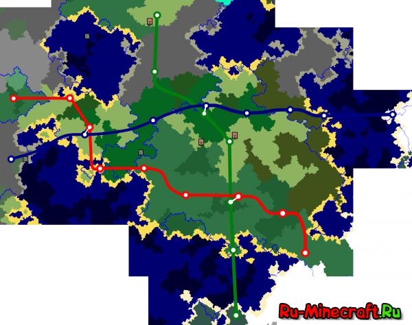 [Map][1.7.10] Карта метро с клиентом