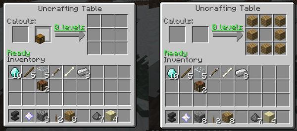 Uncrafting Table - разбери вещь [1.12.2] [1.11.2] [1.10.2] [1.9.4] [1.8.9] [1.7.10]