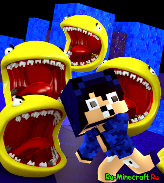 [1.7.10] Horror Pacman - злой pacman в Minecraft