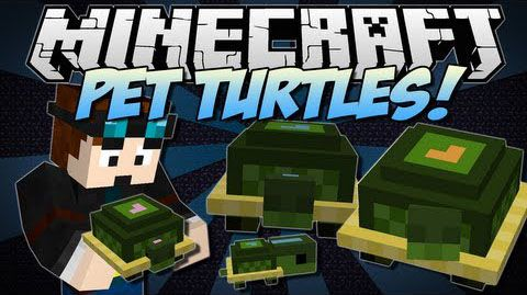 [1.7.10] Pet Turtles Mod - черепашки