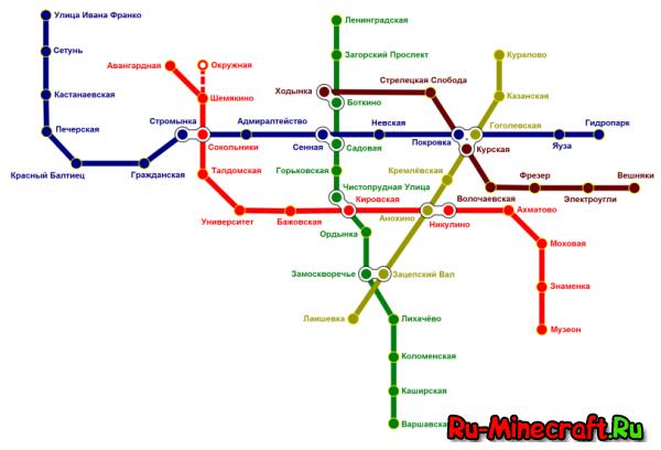[Map][1.7.10] Карта метро с клиентом (v.4)