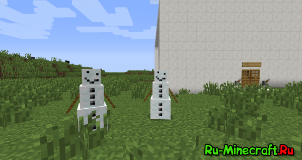 [1.5.2-1.7x] PumpkinLessShowGolem - Снеговик без тыквы!