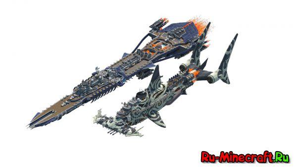 "[Map] Redeemer-Class Gunship ""HammerHead"" - большой летающий корабль"
