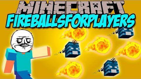 [1.8-1.7.10] FireBalls For Players Mod - метательные головы иссушителя и огненные шары гаста.