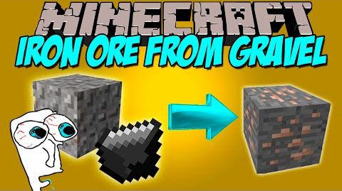 [1.8] Iron Ore from Gravel Mod - Сделай железо из гравия