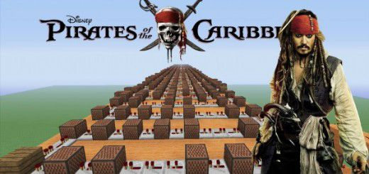 "[Video] Pirates Of The Caribbean ""He's A Pirate"" - Minecraft NoteBlock Song"