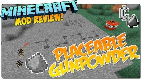 [1.7.10] Placeable Gunpowder Mod - порох