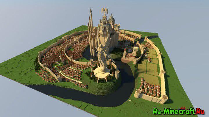 Talonguard_Haven's town - карта замка людей из героев 5 [1.12.2-1.7.10]