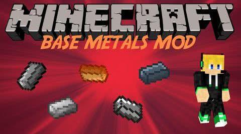 Base Metals Mod -  новые металлы [1.12.2] [1.11.2] [1.10.2] [1.9.4] [1.8.9]