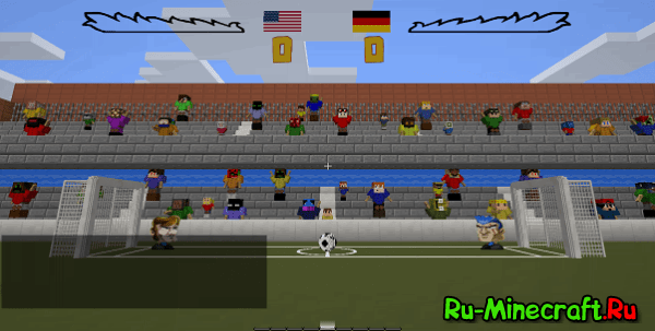 [Map 1.8.9] Head Soccer - Футбол в Minecraft!