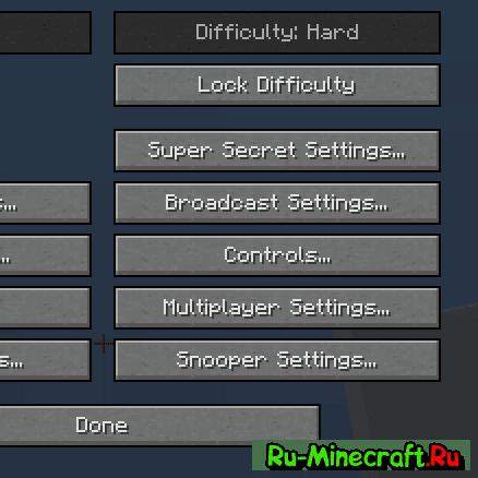 [1.7.10] Difficulty Locker - закрепи один режим сложности
