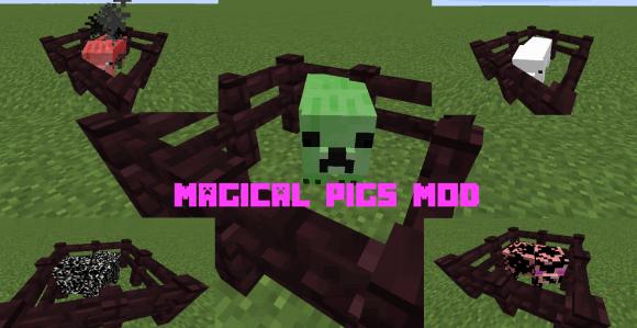 [1.8.9] Magical Pigs Mod - множество необычных свиней