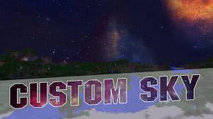 [Ресурспак][1.8][32x] Custom sky - Space edition - Теперь небо станет ещё прекраснее!