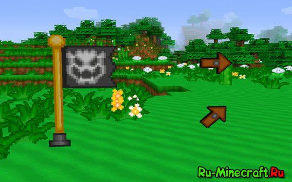"[1.9][32x] Super Mario Medley – Текстуры в стиле ""Марио""."