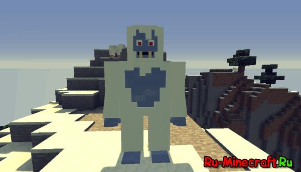 [КомандныеБлоки] Снежный человек одной командой в Minecraft! [1.10]
