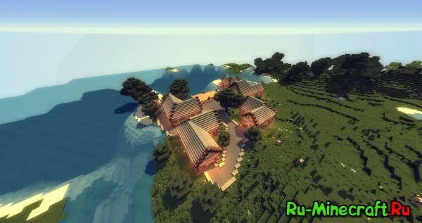 Майнкрафт карта большая деревня