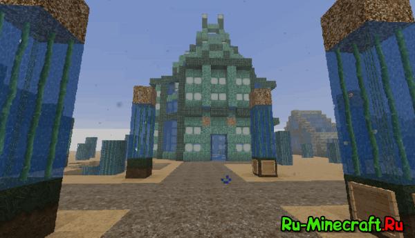 [Map][1.8+] Подводный город – карта для Minecraft